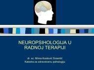 Uvod u neuropsihologiju, razvoj i neuropsihologijska procjena