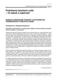 Podnikanie fyzických osôb – 33 otázok a odpovedí - VERLAG ...