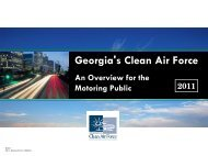 GCAF Overview for Motorists 2011.pdf - Georgia's Clean Air Force