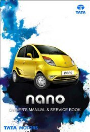 Owner's Manual & Service Book - Tata Motors Customer Care