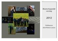 Maatschappelijk verslag 2012 - Lokale Politie