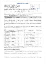 Delibera IMU 2012 - Comune di Bernalda
