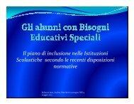 Il piano di inclusione nelle istituzioni scolastiche secondo le recenti ...