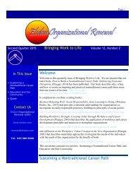EOR Newsletter Second Quarter 2015