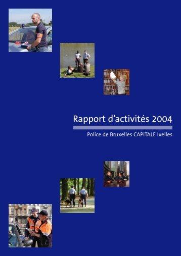 rapport d'activités 2004 FR .qxp - Lokale Politie