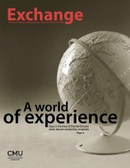 of experience A world - Central Michigan University