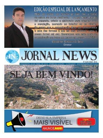 Jornal News Parobé - Edição 1 (04/04/2015)