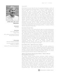 CHRIS SINCLAIR, AICP PRESIDENT - Renaissance Planning Group