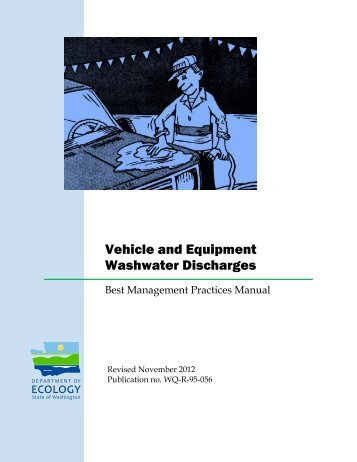 Vehicle and Equipment Washwater Discharges - Access Washington