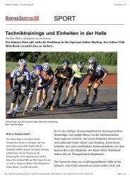 Der Nachwuchs im Kt. Bern, Berner Zeitung - Inline Club Mittelland