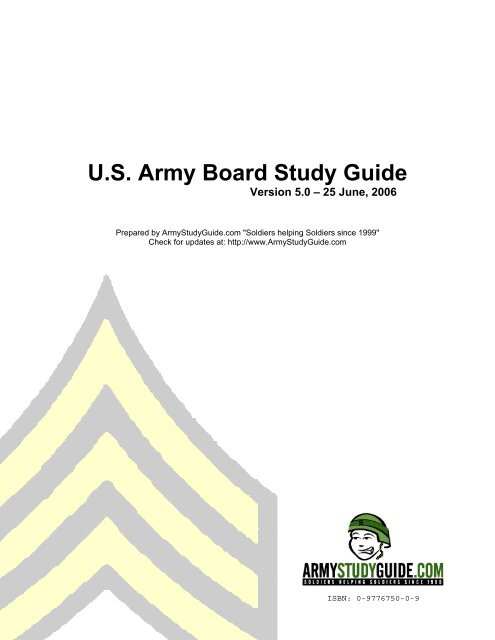 us army board study guide