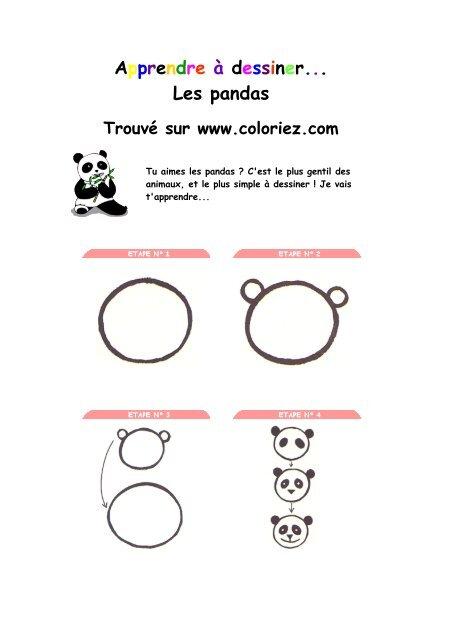 Dessiner Les Pandas â Coloriezcom La Vie Facile Avec Mon