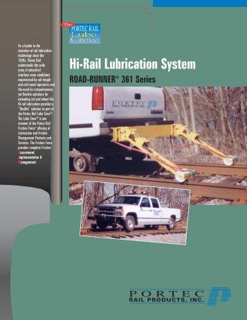 Hi-Rail Lubrication System - Rail Friction Management