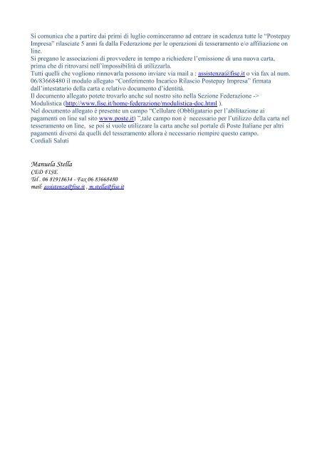 Fise Piemonte Calendario.Manuela Stella Fise Comitato Regionale Piemonte