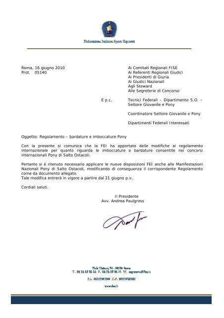 Fise Piemonte Calendario.Modifiche Al Regolamento Pony Fise Comitato Regionale Piemonte