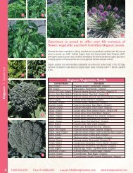 Now offering organic vegetable, herb and flower seed - Fred C ...