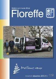Bulletin communal de décembre 2012, n°119 (pdf 1Mo) - Floreffe