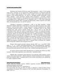 6) Zátěž české populace POPs Polychlorované bifenyly (PCB) jsou ...