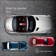 Model Car Selection 2012 - Boutique Mercedes-Benz
