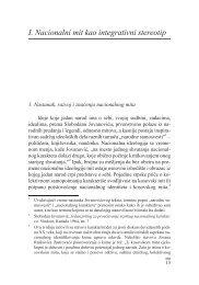 I. Nacionalni mit kao integrativni stereotip - komunikacija