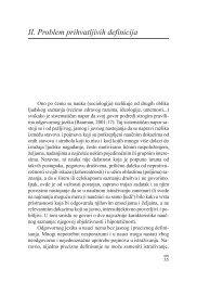 II. Problem prihvatljivih definicija - komunikacija