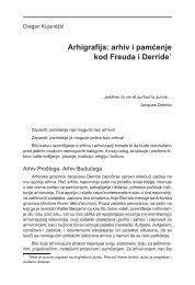 Arhigrafija: arhiv i pamćenje kod Freuda i Derride1 - komunikacija