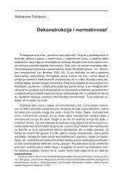 Dekonstrukcija i normativnost1 - Komunikacija
