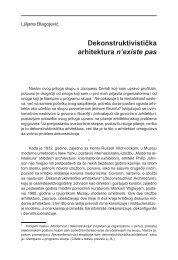 Dekonstruktivistička arhitektura n'existe pas - komunikacija