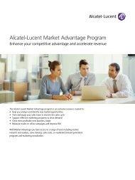 Market Advantage Brochure - Alcatel-Lucent