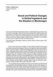 Social and Political Changes in Serbia/Yugoslavia ... - Komunikacija