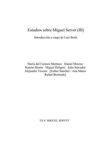 Estudios sobre Miguel Servet II - Instituto de Estudios Sijenenses ...