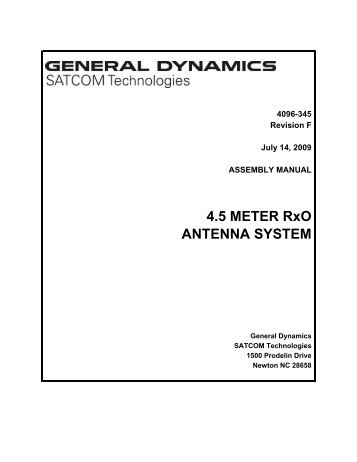 4096-345 - General Dynamics SATCOM Technologies