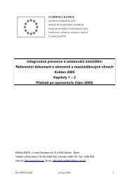 Integrovaná prevence a omezování znečištění Referenční dokument ...