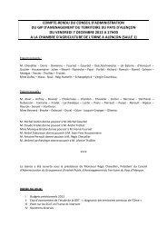 Compte-rendu du Conseil d'Administration - Pays d'Alençon