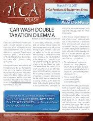 car wash double taxation dilemma - Heartland Carwash Association