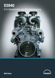 V10 Dieselmotor zur Stromerzeugung. - MAN Diesel & Turbo