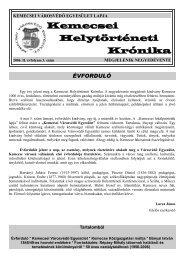 2006. II. évfolyam 3. szám - Kemecse Online