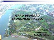 GRAD BEOGRAD - EKONOMSKI RAZVOJ - - PALGO centar