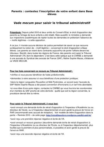 vade mecum (3 pages – fichier PDF) - Collectif national de ...