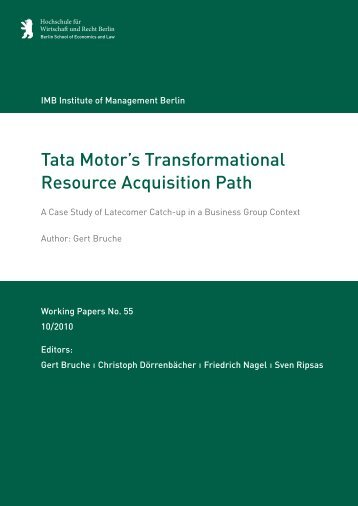 Tata Motor's Transformational Resource Acquisition Path