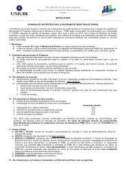 Pró-Reitoria de Ensino Superior Programa Institucional de ... - Uniube