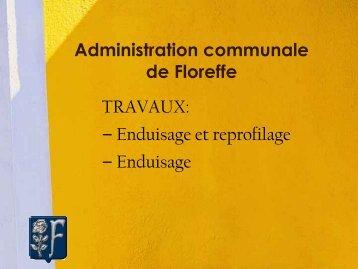 Conseil communale présentation des travaux de voirie ... - Floreffe