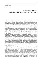 """A dekonstrukcije: la différance, pisanje, Derida i """"mi"""" - komunikacija"""