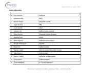 lista prisutnih - PALGO centar