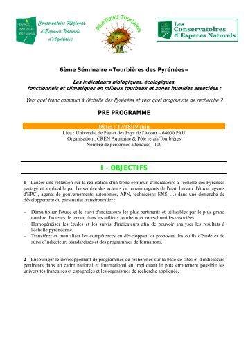 6 ème Séminaire «Tourbières des Pyrénées»