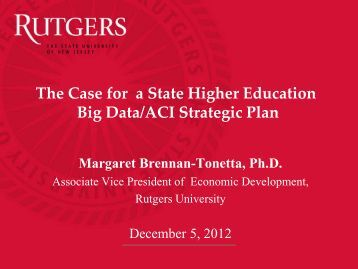 The Case for a State Higher Education Big Data/ACI Strategic Plan