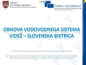 Obnova vodovodnega sistema Videž - Slovenska Bistrica