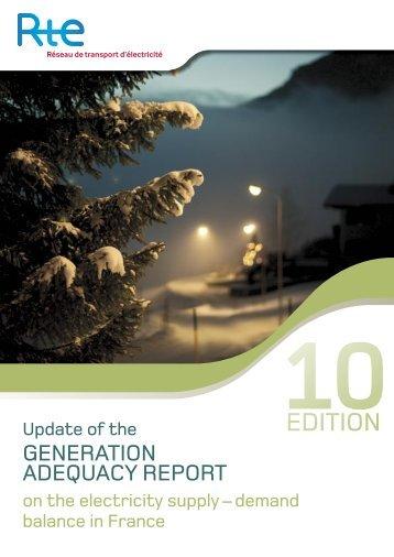 Update 2010 Generation Adequacy Report - RTE