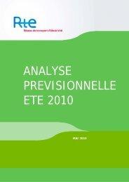 Analyse prévisionnelle - RTE