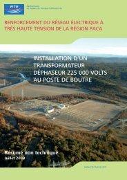 installation d'un transformateur déphaseur 225 000 ... - Espace clients